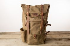The Wilder by Bradley Mountain. Entirely sourced and made in the US. Puppy Backpack, Hiking Backpack, Backpack Bags, Leather Backpack, Leather Bag, Animal Bag, Mk Bags, Girl Backpacks, Canvas Leather