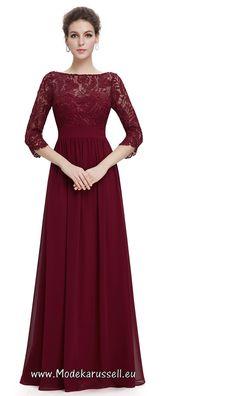 Elegantes Spitzen Abendkleid Surya Dunkelrot