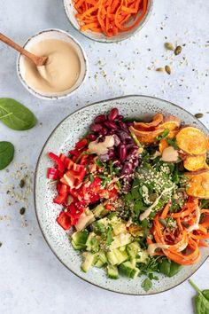 Vegan Recipes Easy, Clean Recipes, Veggie Recipes, Salad Recipes, Vegetarian Recipes, Healthy Bowl, Clean Eating, Yummy Food, Favorite Recipes
