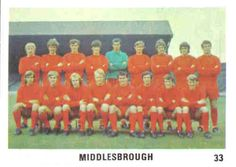 includes Bill Gates and Willie Whigham Middlesbrough Fc, Team Photos, Boro, Football Players, Soccer, Presents, Bill Gates, Squad, 1960s