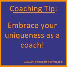 #coaching tip: embrace your uniqueness as a coach!