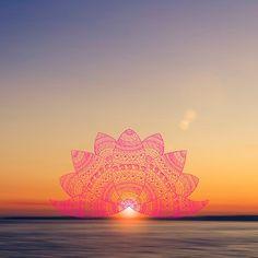 pink lotus mandala petals on blurred sunset with sun light flare Cute Wallpaper Backgrounds, Pretty Wallpapers, Tumblr Wallpaper, Iphone Wallpaper, Lotus Mandala, Mandala Art, Dreamcatcher Wallpaper, Light Art, Sun Light