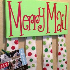 Merry Mail Christmas card holder by emrikatelyn on Etsy