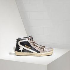 0763013c04da1d Pas Cher Basket Golden Goose Midstar Homme GGDB Sneakers Glitter Blanc   Golden  Goose Mid Star   Pinterest   Golden goose, Shoe boot and Fashion