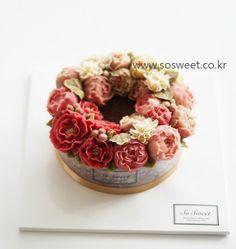 [앙금정규 4주차]풍성한 리스스타일의 앙금플라워떡케이크입니다~^^ : 네이버 블로그