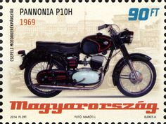 (Hungarian Old-timer Motorcycles - Pannonia Motorcycle Engine, Classic Motors, Cool Motorcycles, Fiat 500, Illustrations And Posters, Postage Stamps, Motorbikes, Scooters, Buses
