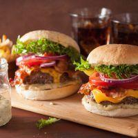 BLT burger with secret sauce