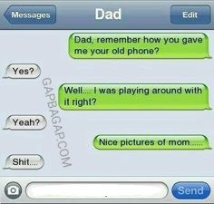 at least it was mom. Wouldn't be for my kids. Funny Texts Crush, Funny Text Fails, Funny Text Messages, Humor Texts, Text Memes, Parenting Fail, Parenting Humor, Dad Texts, Drunk Texts