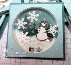 White Christmas Shaker with Video from Flowerbug's Inkspot
