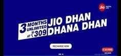 Reliance Jio Dhan Dhana Dhan Latest Offer For All Users