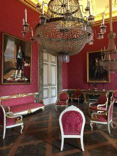 Royal Palace of Caserta interior , near Naples , Italy - (25/3/17 )
