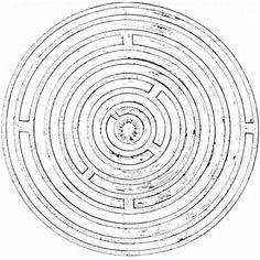 """Le """"Labyrinthe du monde"""" d'Amos Comenius, publié en 1631."""
