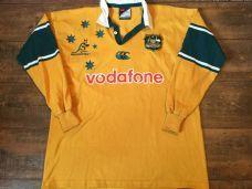 2000 2002 Australia L/s Rugby Union Shirt Adults Large Wallabies