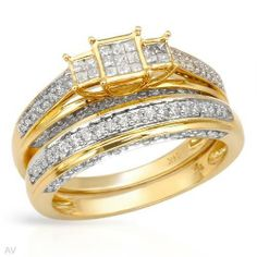 Ring With 0.68ctw Genuine Clean Diamonds in 14K Yellow Gold. Total item weight 6.2g (Size 6.5) Unknown. $988.35. Save 85%!