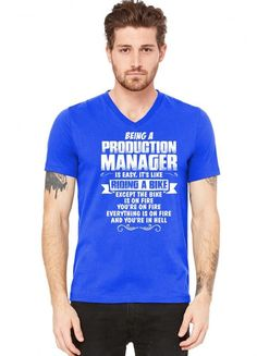 being a production manager V-Neck Tee