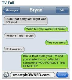 Tv fail... I wasn't that drunk....SURE
