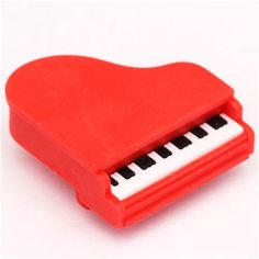 red piano grand piano eraser by Iwako from Japan 1