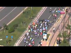 Tour of Turkey Stage 2 - HUGE crash - Alanya - Antalya 22 April