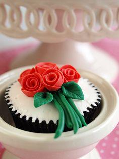 cupcake ramo rosas, via Flickr.