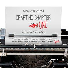 Chapter One. It's what gets agents to represent your book, it's what gets publishers to publish your book, and it's what gets readers to read your book. First impressions are everything! So here's ...