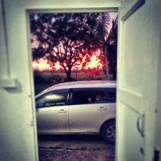 ©Nadi Bay Photography. Can't escape a Fiji sunset, it even finds you at work ;)