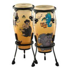 Nino av Meinl NINO89MZ musikaliska Zoo Conga Set, 8 tum och 9 tum vid…