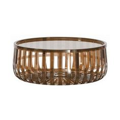 Kartell Panier Transparent Coffee Table - 923117 - Kartell Panier Occasional Table - Brown