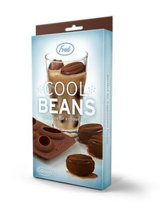 """Cool Beans"" ice cube tray! I soooooo need this so I can make coffee cube so my iced coffees don't get watered down!! $9.99"