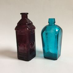 A personal favorite from my Etsy shop https://www.etsy.com/listing/286744813/vintage-pair-of-wheaton-glass-bottles