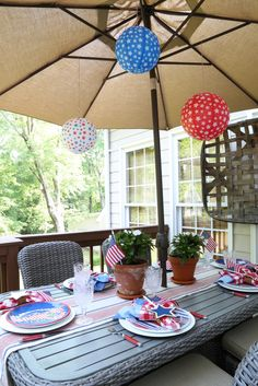 Savvy Southern Style: Patriotic Dining Outdoors