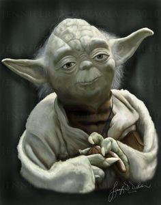 Yoda Artwork by Venusgrl879