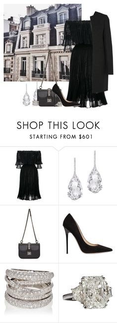 """Bez naslova #6336"" by unorthodox-1 ❤ liked on Polyvore featuring Alexander McQueen, Plukka, Valentino, Jimmy Choo, Sidney Garber and Joseph"