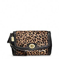 LEGACY PINNACLE LARGE FLAP CLUTCH #coachpoppyblossom