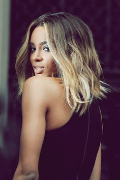 Fine Her Hair Ombre And Ciara Long Bob On Pinterest Short Hairstyles For Black Women Fulllsitofus
