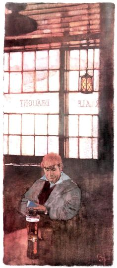 Bernie Fuchs painting, 1986.
