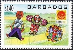 Stamp: Various kites (Barbados) (Phila Nippon '01, Japan) Mi:BB 1009,Sn:BB 1008,Yt:BB 1054