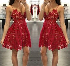 Ulass 2016 Pretty Red Lace Prom Dresses,http://www.luulla.com/product/617014/ulass-2016-pretty-red-lace-prom-dresses-short-prom-dress-homecoming-dress