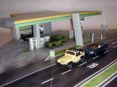 13 Brasa Gas Station In 1/64 Scale - by Paper House 1/64    A really well done paper model of a Gas Staion in 1/64 that is perfect for Hot Wheels and Matchbox miniatures, created by Brazilian designer Carlos ribeiro from Paper House 1/64 website.