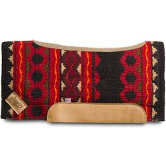 Impact Gel Black and Red Riverland Saddle Pad