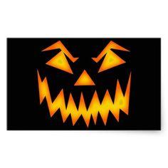 Halloween Rectangular Stickers #Halloween #Sticker