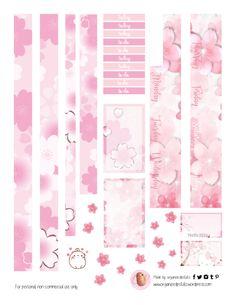 Free Planner Pink Cherry Blossom Printable pg 2