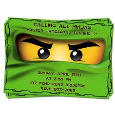 ON SALE Ninjago Birthday party invitation 2. $7.20, via Etsy.
