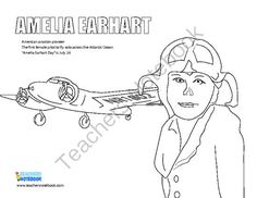 1000 Images About Famous Americans On Pinterest Native Amelia Earhart Coloring Page