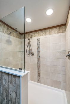 Colony Homes Eastland Ranch -  - A3218A | Walk-in Ceramic Tile Shower with Mosaic Insert!