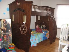 My boys' pirate bunkbeds! Arrrgh!   Love this!!!!!!