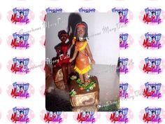 Indigena de Venezuela, modelada a mano en masa flexible, porcelana fria con estilo MaryVale