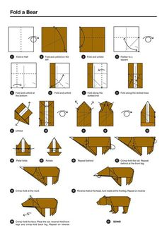 my chaos stems from my inability to sit still flower and bear rh pinterest co uk origami bear instructions diagram origami bear instructions pdf