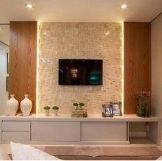 Home Theater Planejado Vidro 30 Ideas Tv Cabinet Design, Tv Wall Design, House Design, Home Living Room, Living Room Decor, Tv Unit Interior Design, Living Room Tv Unit Designs, Tv Wall Decor, Home Tv