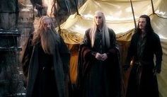 The Hobbit : the Battle of the Five Armies - Thranduil (Lee Pace), Bard (Luke Evans) and Gandalf (Sir Ian McKellen)
