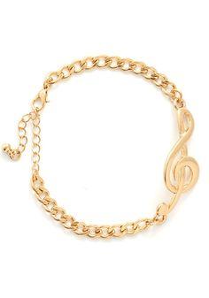 Aurulent Accompaniment Bracelet - Solid, Music, Good, Gold, Statement